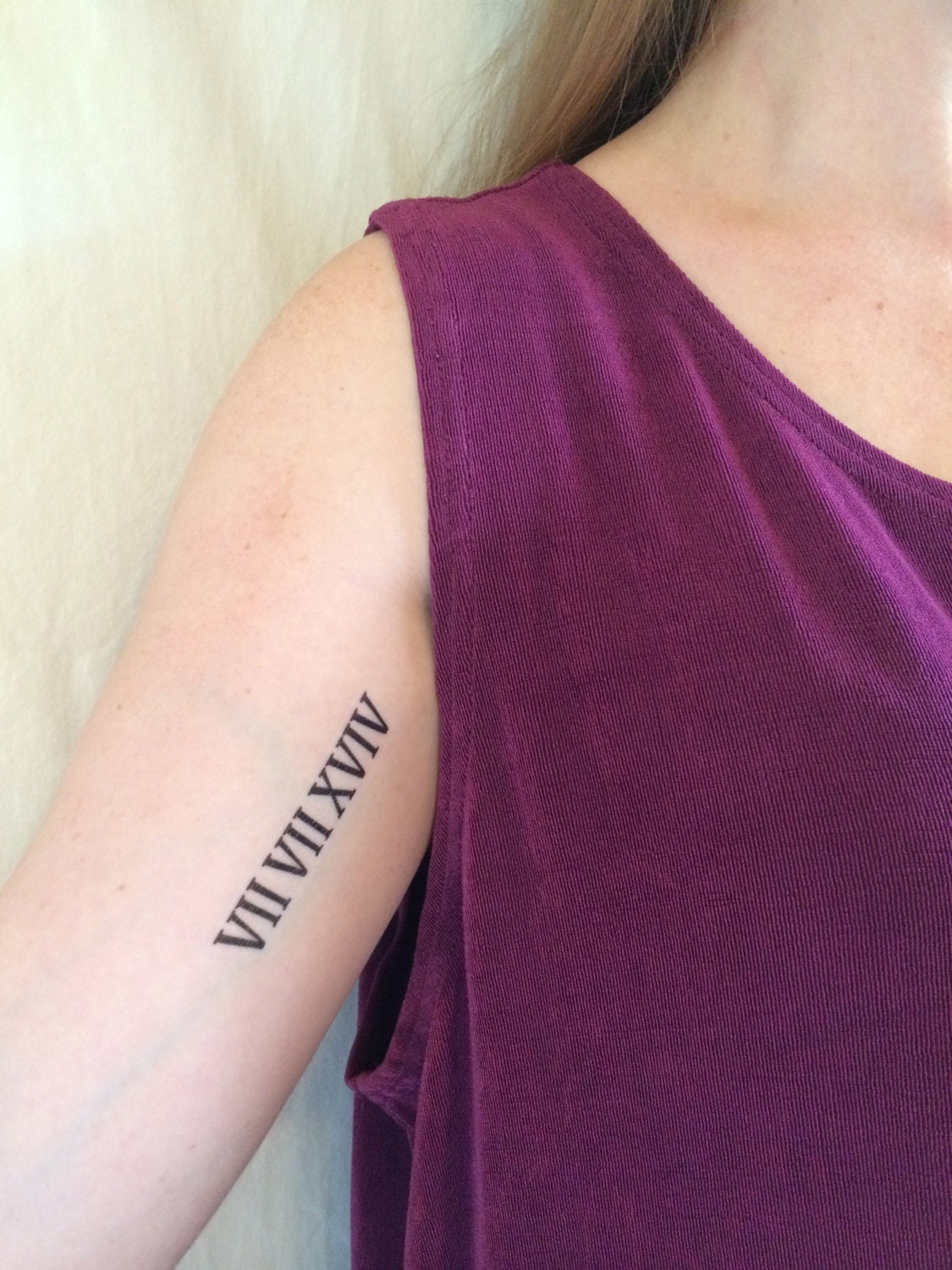 2 Roman Numeral Temporary Tattoos  SmashTat