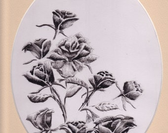 Roses - Charcoal Drawing