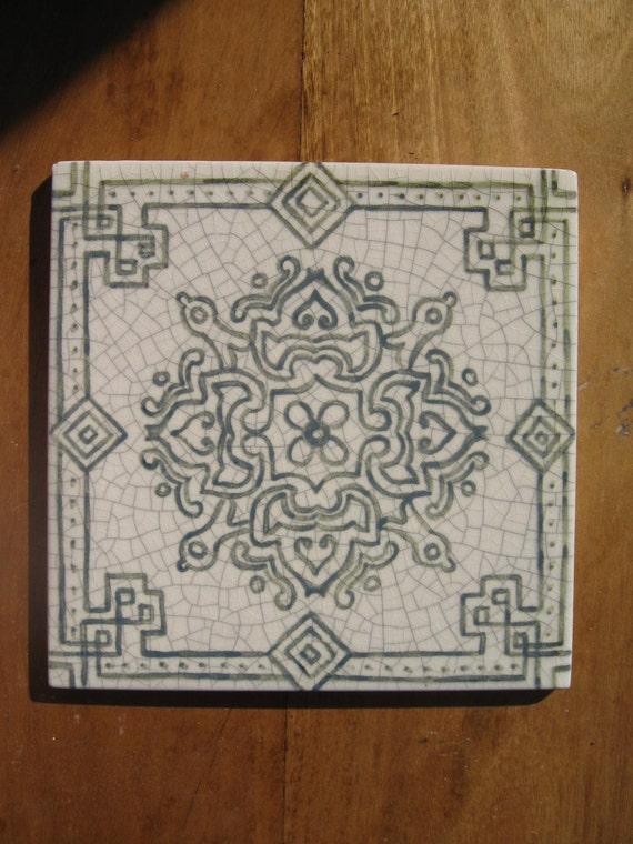 Tile a11 dipinte a mano piastrelle marocchine charcoal - Piastrelle marocchine vendita ...