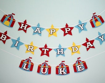 Custom Circus Birthday Banner