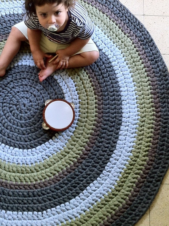 tapis au crochet rond tapis color tapis enfants tapis. Black Bedroom Furniture Sets. Home Design Ideas