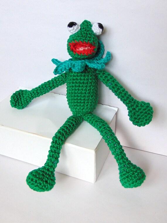 Kermit the Frog Amigurumi Crochet Pattern / PDF e-Book