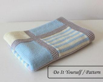 Knit baby blanket pattern / baby blanket pattern / baby ...