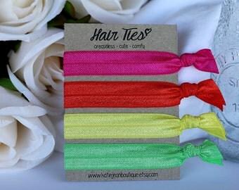 Elastic Hair Ties - Neon Collection