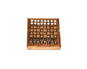 Chess, Wooden Chess with Case, 100% Handmade