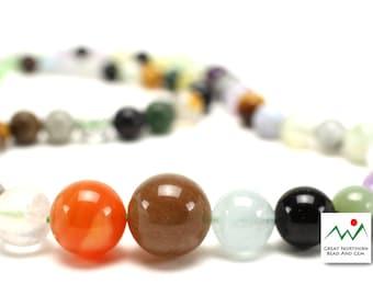 Mixed Gemstone,Graduated Gemstone Strand, ETS776