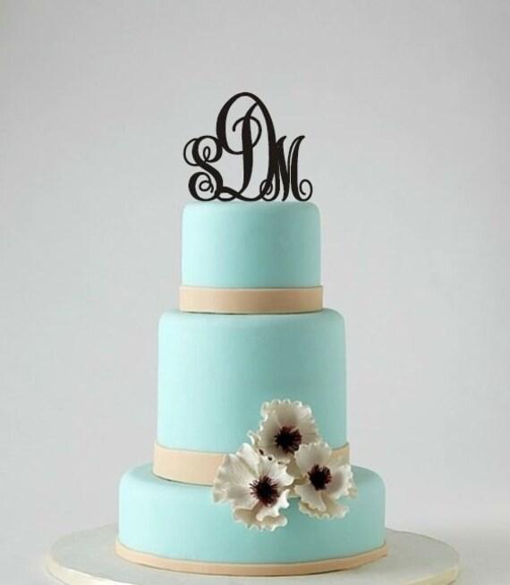 Items similar to Cake Topper - Monogram Wedding Topper ...
