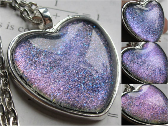 Optic Heart Necklace Science Jewelry Galaxy Jewelry