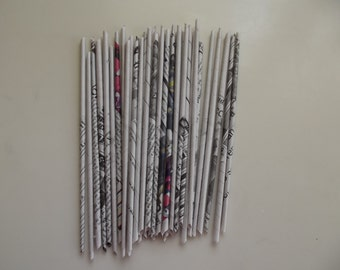 50 Recycled Paper Craft /Paper Newspaper/ Craft Supply