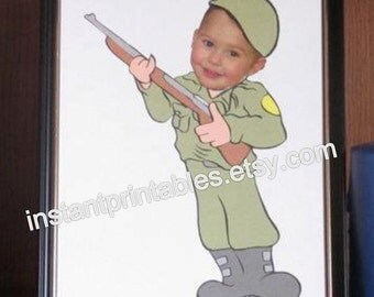 Soldier Frame for Baby Picture Military INSTANT DOWNLOAD digital download print wall decor