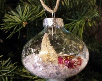 Let it snow- Christmas tree bulb ornament