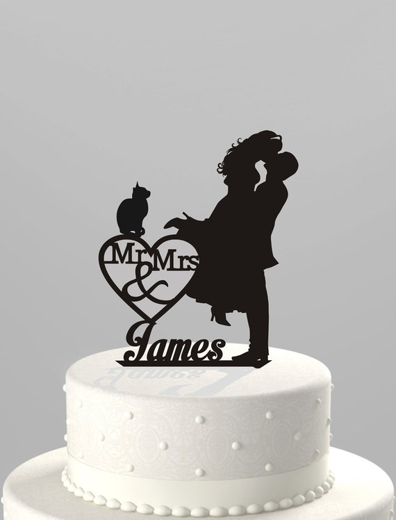 Etsy Customized Cake Topper Cats