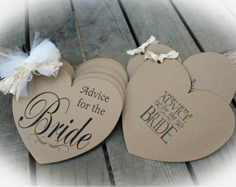 Rustic Bridal Shower Game | Advice for the Bride Guest Book- Kraft covers NR