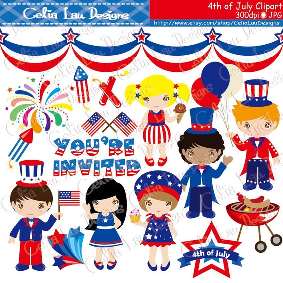 May The 4th Be With You Clip Art: 4th Of July Clipart/ American Clipart / Independence Day Clip