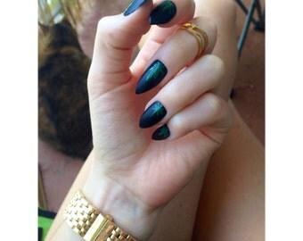 Weed leaf nails   Etsy