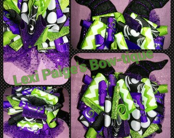 Maleficent Malificent Horns Funky Loopy Hair Bow Sleeping Beauty Boutique Birthday Party Bow!! Hairbow Accessory Evil Queen Villian