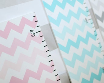 60% OFF!!  Wooden Ombre Chevron Wall Growth Charts for Nursery or Kid's Room in Pink or Aqua