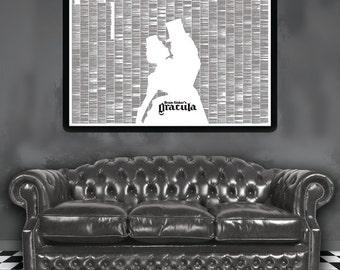 Dracula Poster - Full Text Artwork of Bram Stoker Book on Readable Poster!