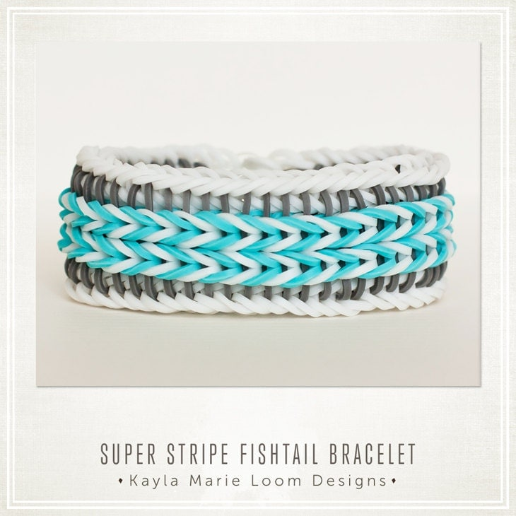 Rainbow Loom Bracelet Super Stripe Fishtail like sailors