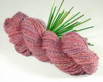 Moonlit Anemone Handspun Worsted Weight Wool Yarn