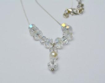 Crystal Bridal Necklace, Swarovski Crystal Necklace, Bridal Necklace, Wedding Jewerly