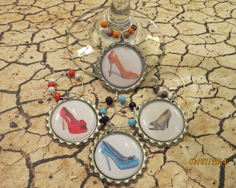 High Heel Wine Charms - Set of 4