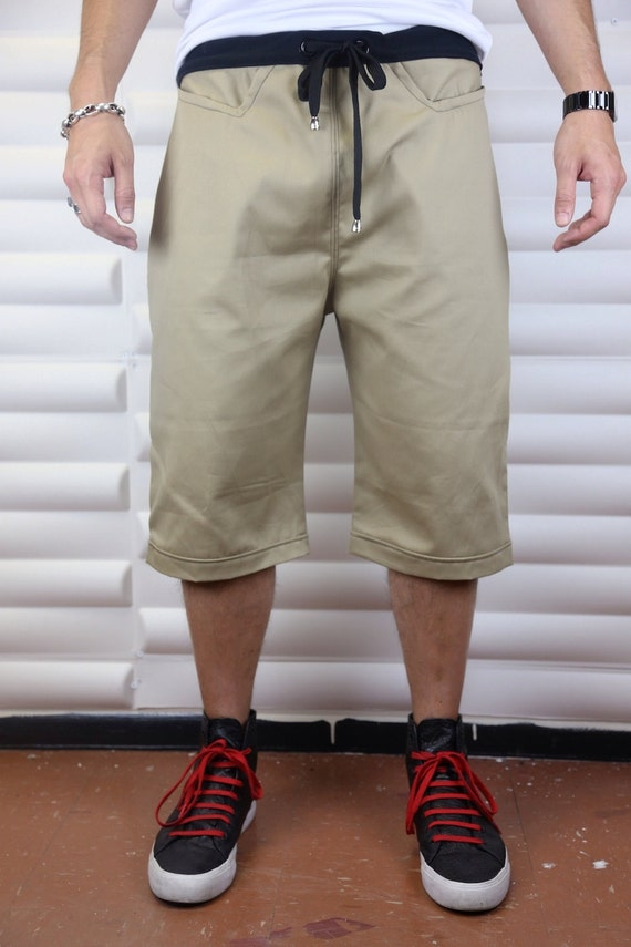 Tan / Khaki Light Khaki Mens Shorts Tailored by C4DApparel