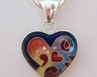 Medium Red Heart Pendant - made to order