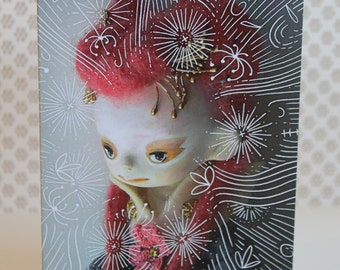 Pink doll card