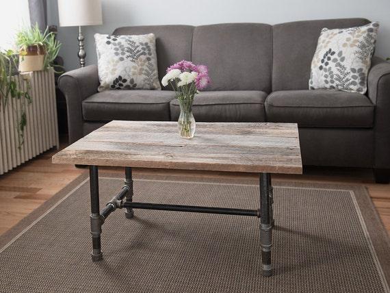 Industrial barn board coffee table for Barn board coffee table