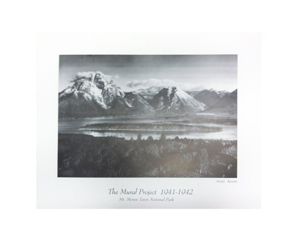 Ansel adams mt moran teton national park the for Ansel adams the mural project posters