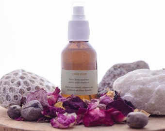 Natural Argan oil Face, Body and Hair Spray, Refreshing Moisturising Cooling Aftersun Mist