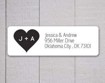 Wedding Invitation Return Address Labels, Wedding Stickers, Return address stickers for invitations (#307)