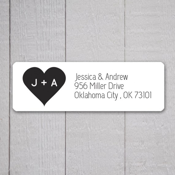 Wedding invitation return address labels wedding stickers for Wedding mailing labels templates