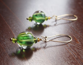Twist of Lime Earrings