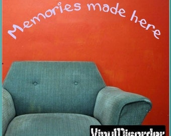 Memories made here - Vinyl Wall Decal - Wall Quotes - Vinyl Sticker - Playroomquotes24ET