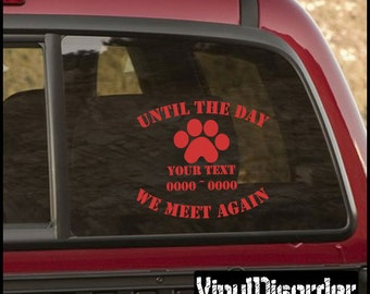 Dog Print 01 In Loving Memory Custom Car or wall Vinyl Decal Stickers ...