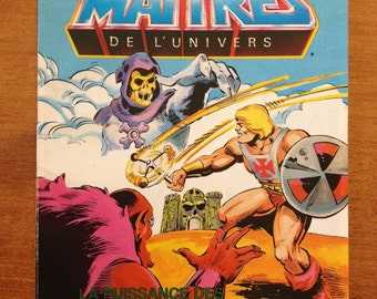 The Flying Fists of Power Masters of the Universe mini comic He-Man book 1985 (la puissance des poings de tonnerre)