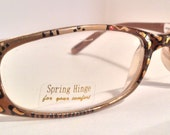 """Hand Painted  Reading Glasses                 """"Sandy Leopards"""" Trendy, detailed and fashionable. They come in all strengths."""