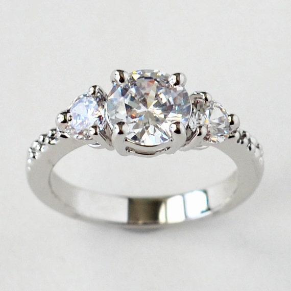 cz ring, cz wedding ring, cz engagement ring, cubic zirconia ...