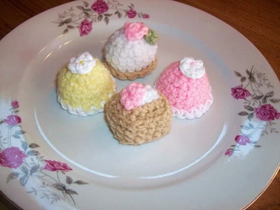 PATTERN SALE Crochet Tea Cakes Petite Fours