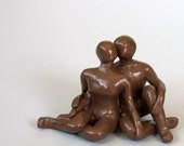 """Couple sculpture   """"Autograph of Love""""   one-of-a-kind """"I love you"""" gift"""