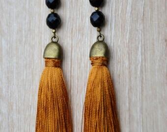 Earrings Moscow mustard