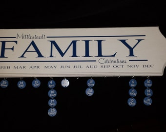 Personalized Family Celebration Board