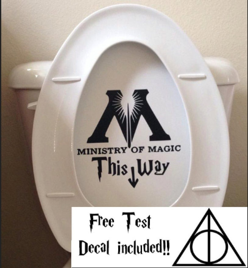 Ministry Of Magic Bathroom Toilet Decal Sticker Funny Harry - Toilet wall stickers