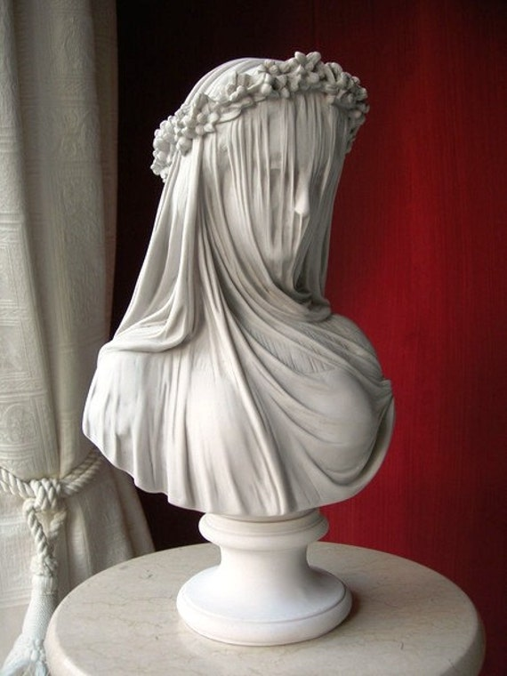 THE VEILED LADY A marble bust of the antique by Monti 1875