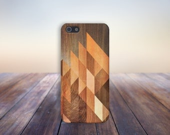 Geometric Stained Wood Case for iPhone 8 6 Plus iPhone X  Samsung Galaxy s8 edge s6 and Note 8  S8 Plus Phone Case, Google Pixel 2