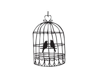 Birdcage stamp, Wedding birdcage stamps, birdcage decor