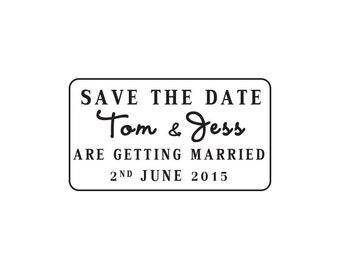Custom Wedding Stamp, Save the date stamp