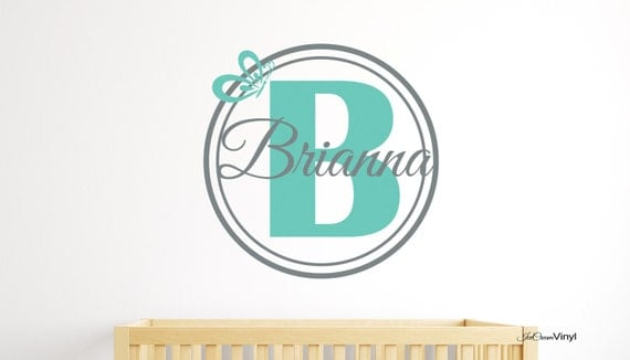 Name Wall Decal Butterfly Wall Decal with Name Personalized Nursery Vinyl Decor Teen's Room Girl's Room Kid's Room Vinyl Wall Decor